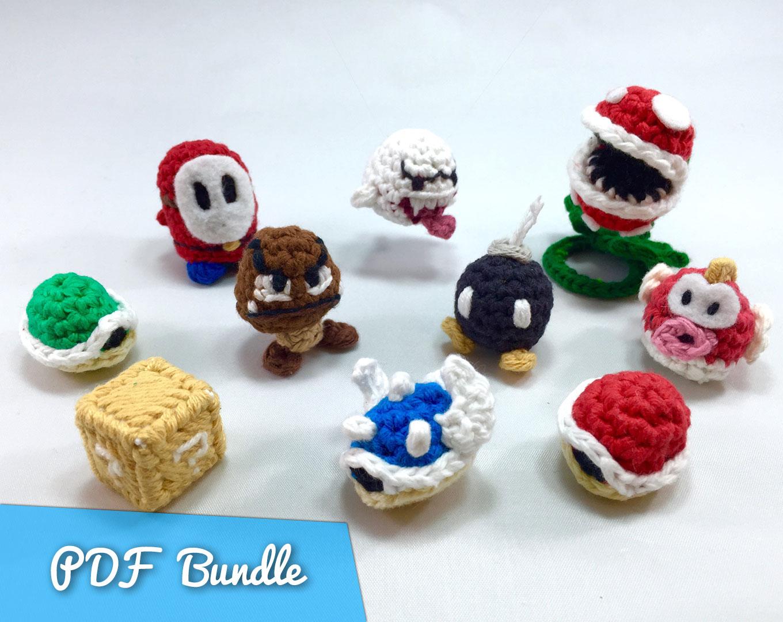 Mario Enemies from Super Mario Bros Crochet Patterns Bundle
